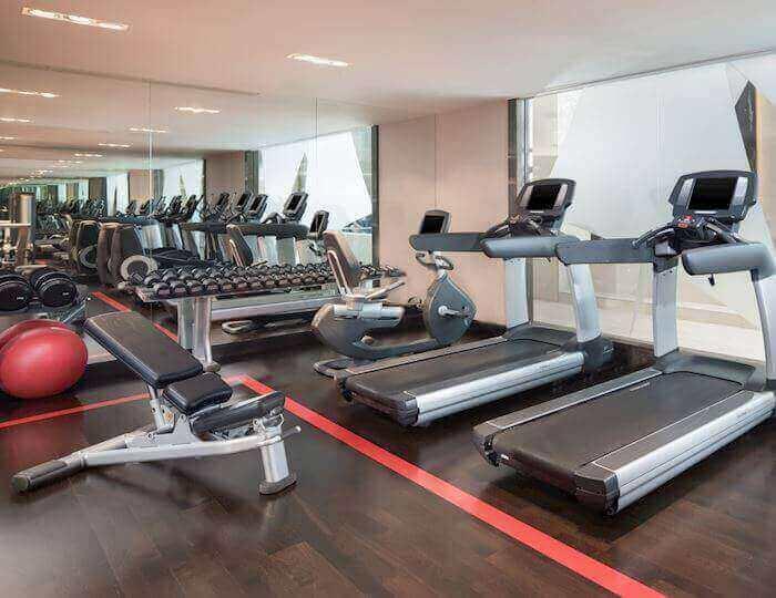 24/7 fitness centrum v Sheraton Bratislava Hotel